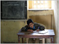 A young pupil in one of the primary schools of Udaipur, Rajasthan, India.