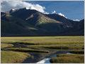 Meandering Suru river near Rangdum gompa, Rangdum, Ladakh, Jammu and Kashmir, India