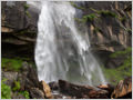 Waterfall Jogini and it's surroundings are declared as meditation area, Kullu valley, Himachal Pradesh, India.