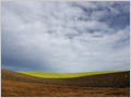 Differently colored fields forming an abstract composition, Skjønhaug, Østfold, Norway.