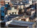 Building construction chaos in the old city of Varanasi, Uttar Pradesh, India.