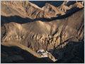 Lamayuru monastery and it's lunar surroundings, Ladakh, Jammu and Kashmir, India.