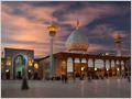 Spectacular eveninig clouds above the Shah Cheragh shrine in Shiraz, Iran.