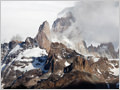 Unveiling peak of Mt. Fitz Roy just after the storm, Los Glaciares national park, Patagonia, Argentina.