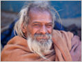 A portrait of a saddhu inspecting the photographer, Rishikesh, Uttarkhand, India.