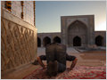 A man praying in the north iwan of Masjed-e Vakil mosque, Shiraz, Iran.