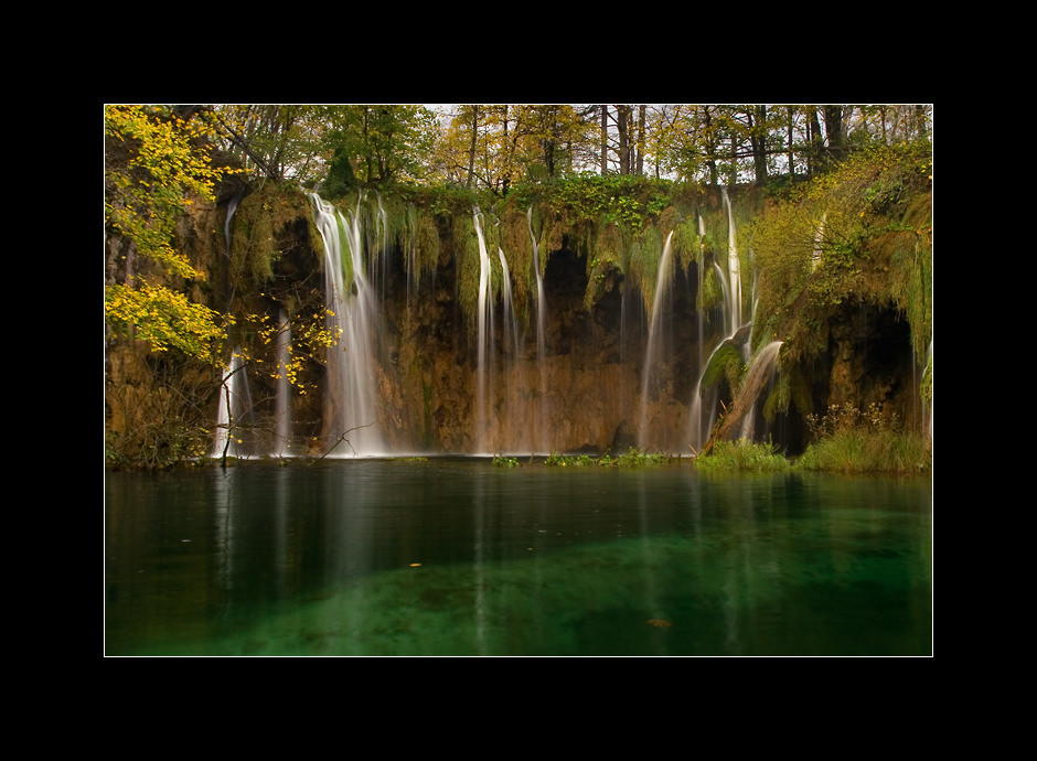 Waterfall Pevalek, one of the many stunning waterfalls in the Plitvice national park, Croatia.